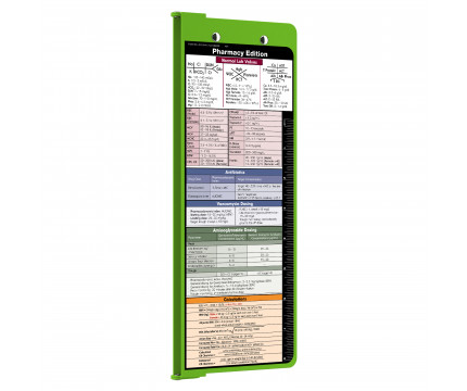 326569081098 WhiteCoat Clipboard - Vertical - LIME GREEN - Pharmacy Edition